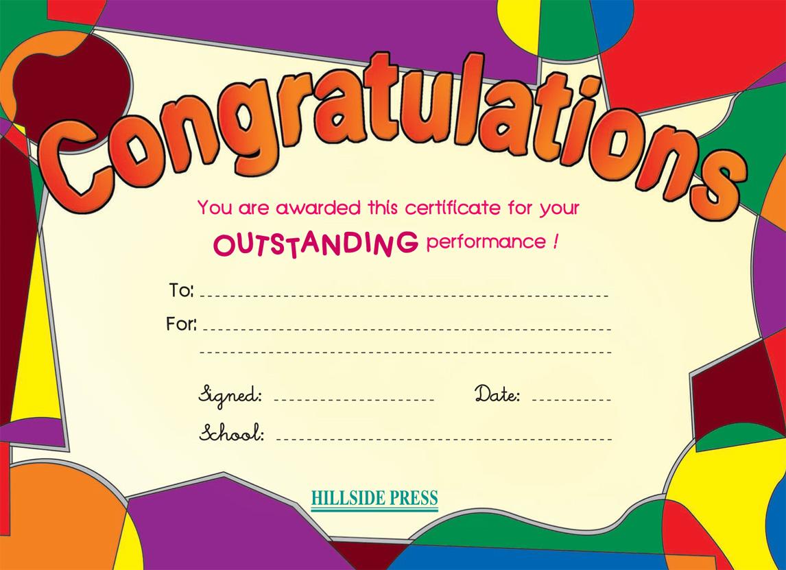 secondary a1 a2 certificates hillside